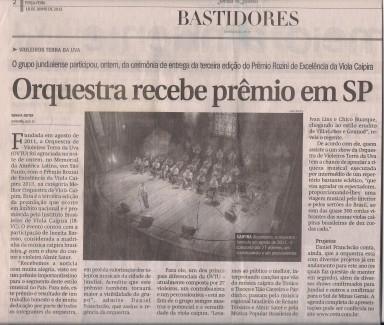 Jornal de Jundiaí 18-06-2013 Premio Rozini OVTU